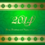 Happy new year. Happy new year 2014 text design. Vector illustration Royalty Free Stock Photography