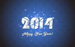 Happy new year 2014 text design. Vector illustration Stock Photo