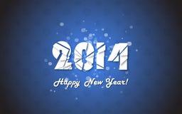 Happy new year 2014 text design. Stock Photo