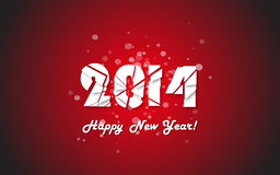 Happy new year 2014 text design. Vector illustration stock illustration