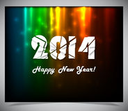 Happy new year 2014 text design. Vector illustration royalty free illustration