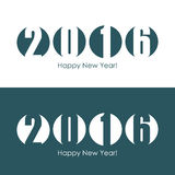 Happy new year 2016 text design. Vector illustration Royalty Free Stock Photos