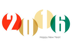 Happy new year 2016 text design. Stock Images