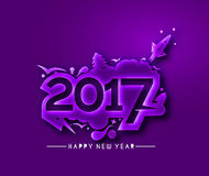 Happy new year 2017 Text Design. Vector illustration Stock Photos