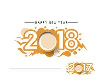 Happy new year 2017 and 2018 Text Design. Vector illustration Royalty Free Stock Images