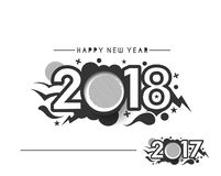 Happy new year 2017 and 2018 Text Design. Vector illustration Royalty Free Stock Photos