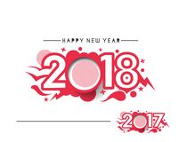 Happy new year 2017 and 2018 Text Design. Vector illustration Royalty Free Stock Photography