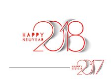 Happy new year 2018 - 2017 Text Design. Vector illustration Royalty Free Stock Photo