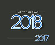 Happy new year 2018 - 2017 Text Design Stock Photos