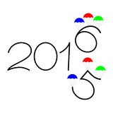 Happy new year 2015 and 2016 text design Royalty Free Stock Photo