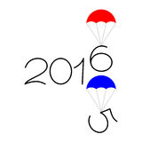 Happy new year 2015 and 2016 text design. On the white background Stock Photo
