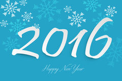 Happy new year 2016 text design. By zcube Stock Photography
