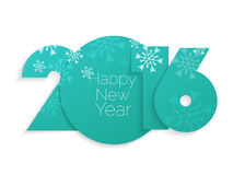 Happy new year 2016 text design Stock Photos