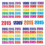 Happy new year 2015  text designs  - vector 2015 set.  Royalty Free Stock Photo