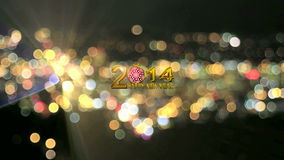 2014 Happy New Year Text Festive Background stock video
