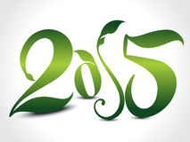 Happy new year text in floral style Stock Images