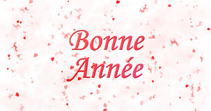 Happy New Year text in French Bonne ann?e on white background Stock Image