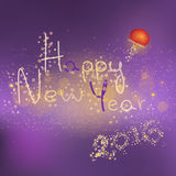 Happy new year text. Illustration of new year text with chinese lantern vector illustration