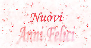 Happy New Year text in Italian Nuovi anni felici turns to dust Royalty Free Stock Images