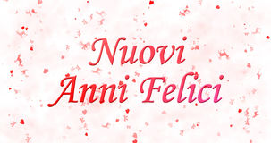 Happy New Year text in Italian Nuovi anni felici on white back. Ground Royalty Free Stock Photos