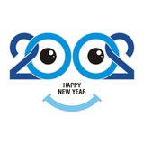 2020 happy new year text - number design. With colorful design, unique and elegant design, suitable for your icon, card, calendar and other use royalty free illustration