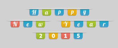 Happy New Year text Royalty Free Stock Photography