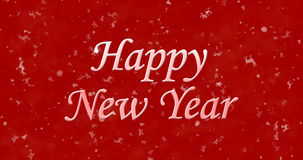 Happy New Year text on red background. N royalty free illustration