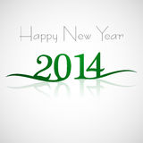 Happy New Year 2014 text. Reflection card Royalty Free Illustration