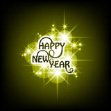 Happy New Year text shiny stars colorful backgroun Royalty Free Stock Photo