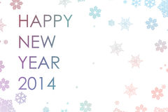 Happy New Year Text Snowflakes Royalty Free Stock Images