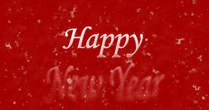 Happy New Year text turns to dust from bottom on red background. Happy New Year text turns to dust from bottom on red christmas background Stock Illustration