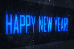 HAPPY NEW YEAR text on virtual screens Royalty Free Stock Image