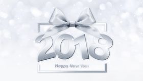 2018 Happy New Year text for your flyers and greetings Card. Id. Eal to use for parties invitation, dinner invitation, christmas vector illustration