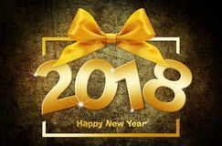 2018 Happy New Year text  for your Flyers and Greetings Card. Id Royalty Free Stock Images