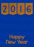 Happy New Year 2016 textile background Royalty Free Stock Photo