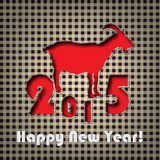 Happy New Year 2015. Textile background. 2015 is goat year. Holiday background royalty free illustration