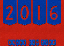 Happy New Year 2016 textile background Stock Photos