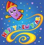 Happy New Year theme 1. Vector illustration Stock Photo