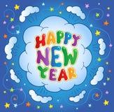 Happy New Year theme 2. Vector illustration Royalty Free Stock Photo