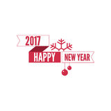 Happy new year 2017 theme. For greeting card, flyer, invitation, poster, brochure, banner, calendar Christmas Meeting events Vector Royalty Free Stock Photo