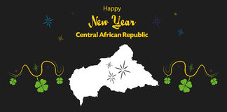 Happy New Year theme with map of Central African Re Stock Photos
