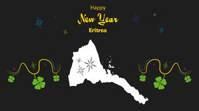 Happy New Year theme with map of Eritrea Stock Photo