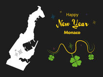 Happy New Year theme with map of Monaco Royalty Free Stock Image