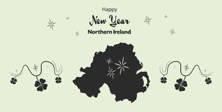 Happy New Year theme with map of Northern Ireland Stock Image