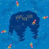 Happy New Year theme 1 - vector illustration Stock Image