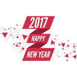 Happy new year 2017 theme Royalty Free Stock Photography