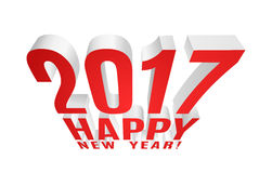 2017 Happy New Year!. Three-dimensional element for your greeting card. Vector EPS10 Stock Image