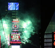 Happy New Year Times Square 2015. The ball drops in Times Square on New Years Eve 2015. Happy New Year royalty free stock photos