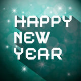 Happy New Year Title - Vector Slogan Royalty Free Stock Image