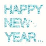 Happy New Year Title - Vector Snowflakes Slogan Royalty Free Stock Photos